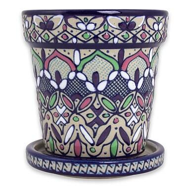 Novica Flowers in Celaya Ceramic Flower Pot Planter