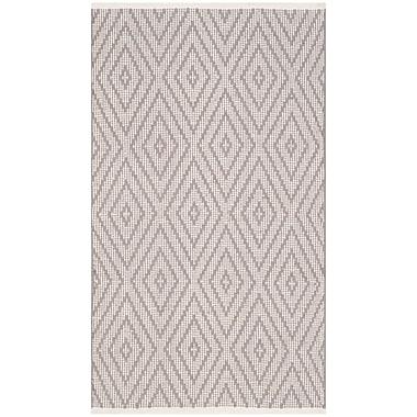 Highland Dunes Alastair Hand-Woven Grey/Ivory Area Rug; Rectangle 5' x 7'