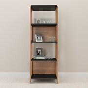 Brayden Studio Holte Home Office 71'' Standard Bookcase; Hanover/Black