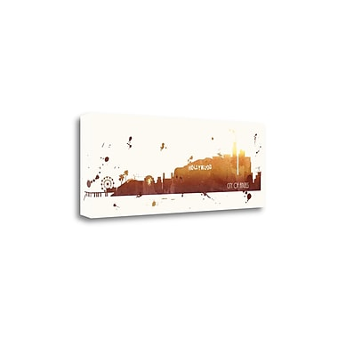 'Sunset Los Angeles Square' by Anna Quach Framed Acrylic Painting Print on Wrapped Canvas