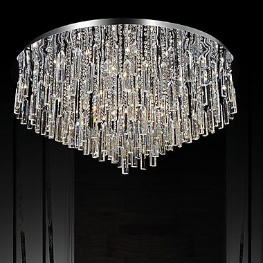 CrystalWorld Bianca 16-Light Flush Mount