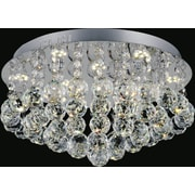 CrystalWorld Sparkle 6-Light Flush Mount