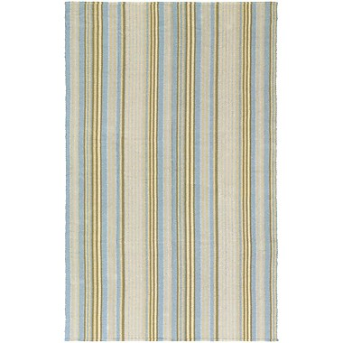 Highland Dunes Artique Hand-Woven Blue/Yellow Area Rug; 3' x 5'