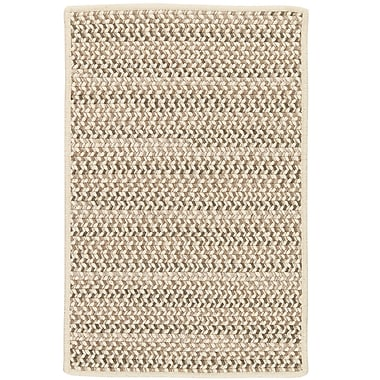 Highland Dunes Arvie Striped Hand-Woven Natural Area Rug; 3' x 5'