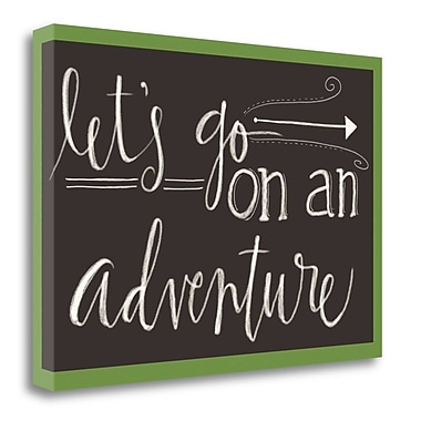 Red Barrel Studio 'Let's Go on an Adventure' Textual Art on Wrapped Canvas; 16'' H x 23'' W