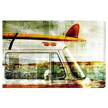 Highland Dunes 'Surf Van' Graphic Art Print on Canvas; 40'' H x 60'' W x 1.5'' D