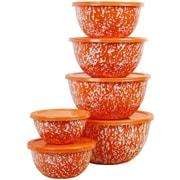 Reston Lloyd Calypso Basic 12 Piece Steel Mixing Bowl Set; Orange