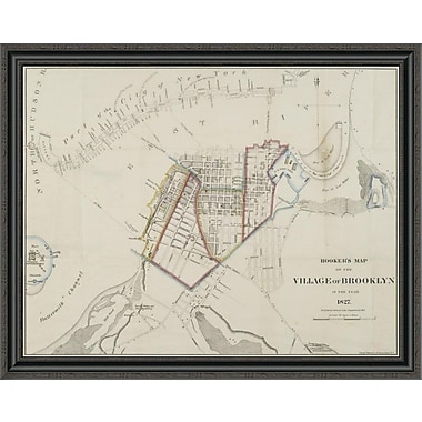 East Urban Home 'Hooker's Map of the Village of Brooklyn; 1827' Framed Print
