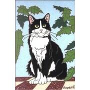 The Cranford Group Tuxedo Cat Garden Flag