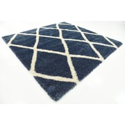 Charlton Home Southampton Navy Blue Area Rug; Square 8'
