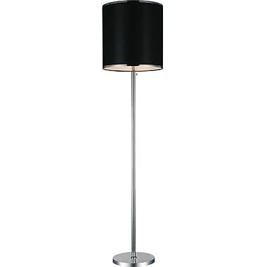 CrystalWorld Orchid 35'' Floor Lamp; Black