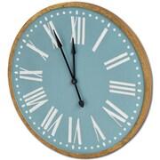One Allium Way 36'' Round Wood Wall Clock