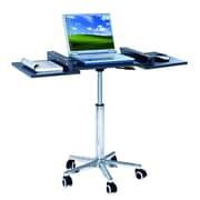 Techni Mobili – Chariot pour ordinateur portatif avec table pliante, gris graphite (RTA-B006-GPH06)