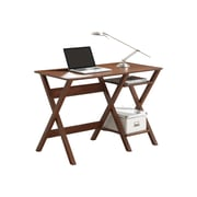 Techni Mobili Writing Desk With Side Shelves, Oak (RTA-8402-OAK)