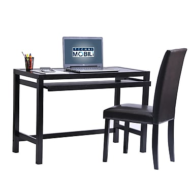 Techni Mobili Matching Desk With Keyboard Panel And Chair Set, Wenge (RTA-3605ST-WN)