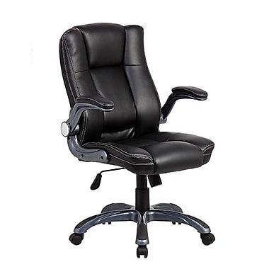 Techni Mobili Medium Back Executive Office Chair, Black