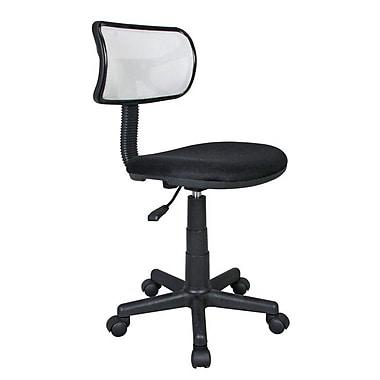 Techni Mobili – Chaise de bureau en filet pour étudiant, blanc (RTA-M101-WHT)