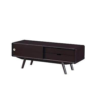 Techni Mobili – Meuble pour téléviseur Stylish avec porte et rangement, pour téléviseurs jusqu'à 55 po, wengé (RTA-3636-WN)