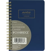 "Cambridge® WorkStyle Small Wirebound Notebook, 5-7/8"" x 4-3/8"", Blue (06964)"