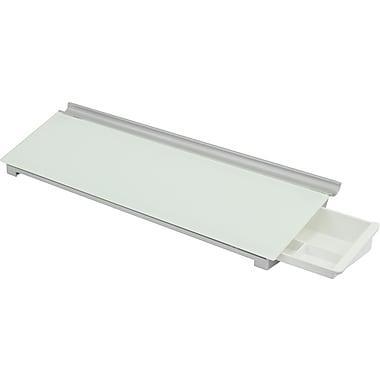 Quartet® - Surface de travail en verre Infinity™ pour ordinateur, 18 po x 6 po, blanc, sans cadre (3413829987)