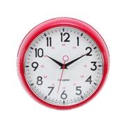Kiera Grace ? Horloge murale rétro, lunette convexe en verre avec contour chromé, 9,5 po