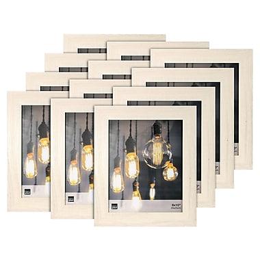Kiera Grace – Cadre photo Loft, 8 x 10 po, bois flottant pâle, 12/ensemble (PH44123-2MC)