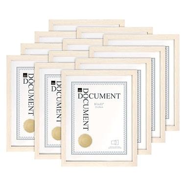 Kiera Grace – Cadre linéaire pour document, 8,5 x 11 po, bois flottant pâle, 12/ensemble (PH44119-5MC)
