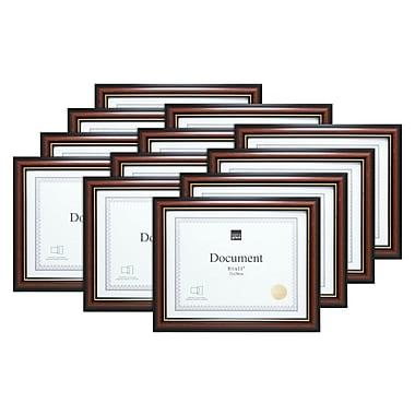 Kiera Grace – Cadre pour document Kylie, 8,5 x 11 po, brun avec bordure dorée, 12/ensemble (PH43830-0MC)