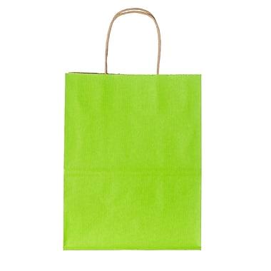 Creative Bag – Sac à provisions en papier de qualité supérieure, 16 x 6 x 19 po, vert vif, 200/paquet