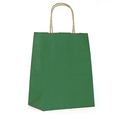Creative Bag – Sac à provisions en papier de qualité supérieure, 8 x 4 x 10 po, vert forêt, 100/paquet