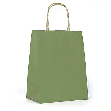 Creative Bag – Sac à provisions en papier de qualité supérieure, 5 x 3 x 8 po, kaki, 25/paquet