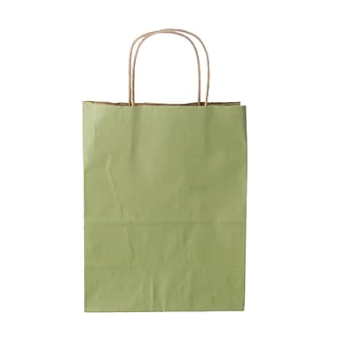 Creative Bag – Sac à provisions en papier de qualité supérieure, 16 x 6 x 19 po, kaki, 25/paquet