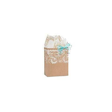 Creative Bag ? Sac à provisions en papier de qualité supérieure, 8 x 4 x 10 po, bordure en dentelle