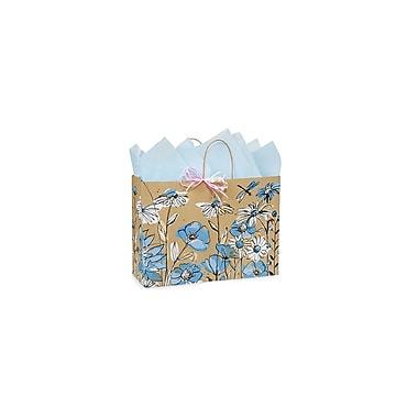 Creative Bag – Sac à provisions en papier de qualité supérieure, 16 x 6 x 12 po, prairie de fleurs sauvages, 100/paquet