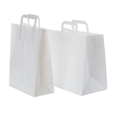 Creative Bag – Sac à provisions en papier avec poignée plate, 12,75 x 7 x 11,25 po, blanc, 250/paquet