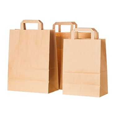 Creative Bag Flat Handle Paper Shopper, 12.75x7x11.25