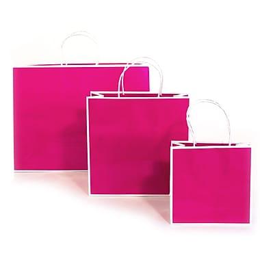 Creative Bag – Sac à provisions San Francisco en papier, 10 x 10 x 4 po, fuchsia Fillmore, 25/paquet