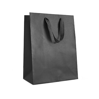 Creative Bag – Sac fourre-tout Manhattan, 16 x 6 x 12 po, noir Broadway, 25/paquet