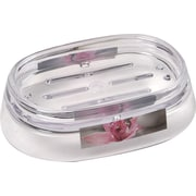 Evideco Chic and Zen Clear Acrylic Printed Bath Countertop Soap Dish