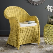 Bay Isle Home Mustique Armchair; Yellow