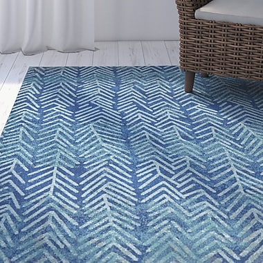 Highland Dunes Hurst Pacific Blue Area Rug; 8' x 11'