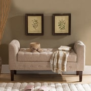 InRoom Designs Upholstered Storage Bench