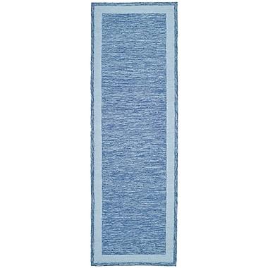 Highland Dunes Liadan Blue Area Rug; Runner 2'6'' x 8'