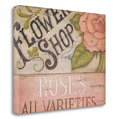 Red Barrel Studio 'Flower Shop Roses' Acrylic Painting Print on Wrapped Canvas; 18'' H x 23'' W