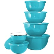 Reston Lloyd Calypso Basic 12 Piece Steel Mixing Bowl Set; Turquoise