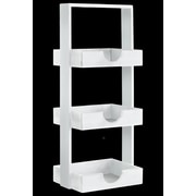 Urban Trends Rectangle Wood Standing Shelving Unit; Coated White