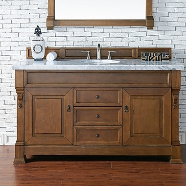 James Martin Furniture Brookfield 60'' Single Cabinet Bathroom Vanity Base; Country Oak