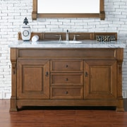 James Martin Furniture Brookfield 60'' Single Cabinet Bathroom Vanity Base; Country Oak