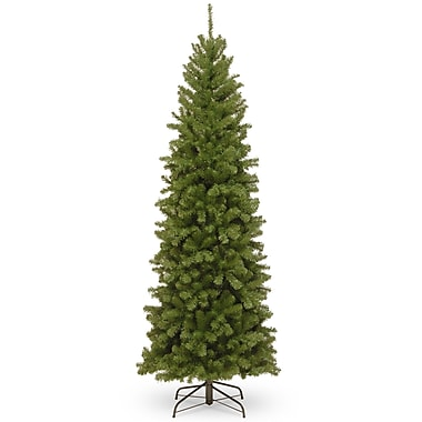 The Holiday Aisle Pencil Slim 7' Green Spruce Artificial Christmas Tree