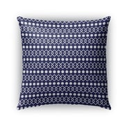 Bloomsbury Market Coolidge Chains Dots Outdoor Throw Pillow; 16'' x 16''